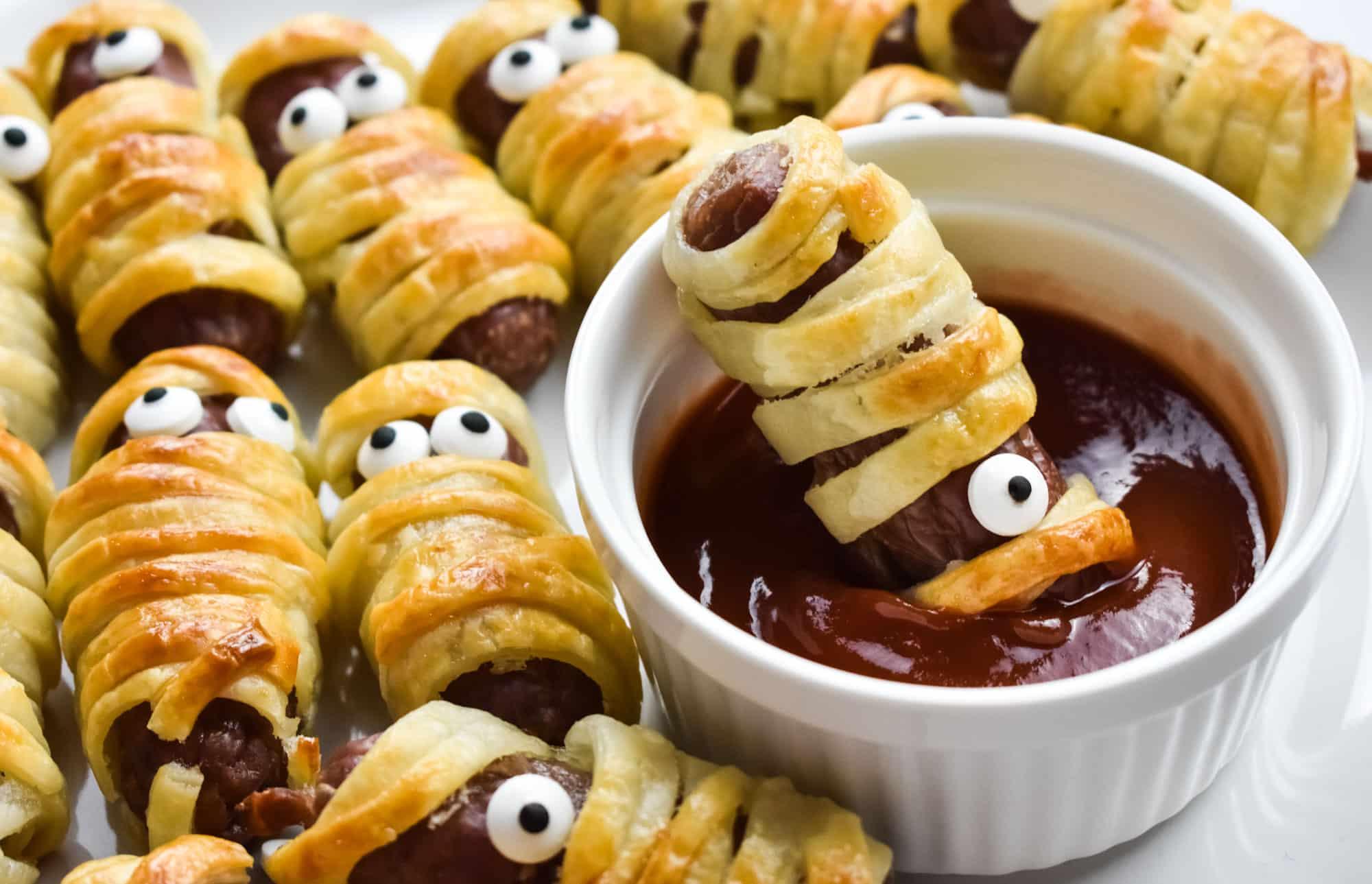 Halloween Sausage Mummy Snack