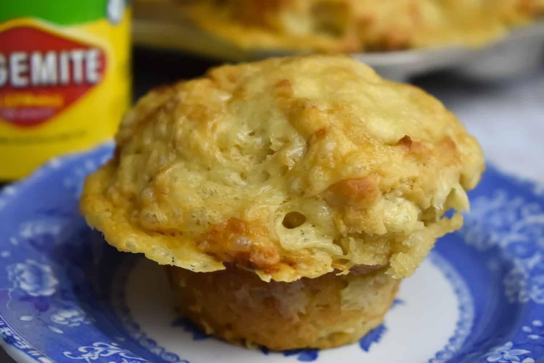 Quick Vegemite and Cheese Muffins